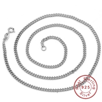 18 Inch White Gold Plated Top Quality 925 Sterling Silver Chain Necklaces For Men Pendant Fine