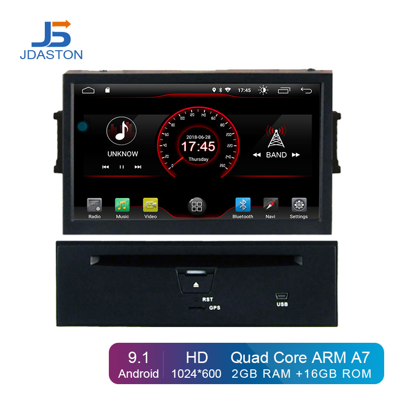 JDASTON Android 9.1 Car DVD Player For Nissan Teana Murano 2008 2009 2010 Multimedia GPS Navigation 2 Din Car Radio Stereo audio