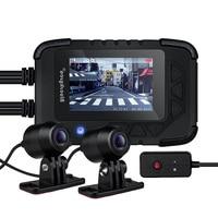 Blueskysea DV688 Motorcycle Camera 1080P DVR for Motorcycle Camara Para Moto Waterproof Motocicleta with Double car dvr camera
