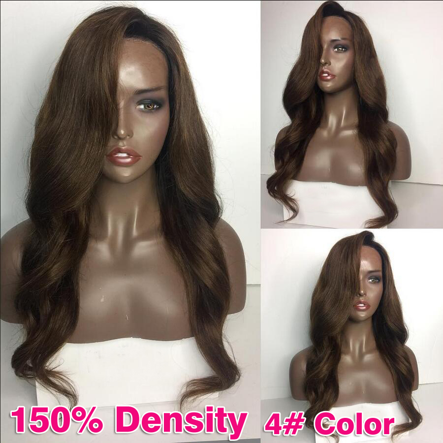 Unprocessed 150% Density Malaysian Full Lace Wigs Bleached Knots Virgin Human Hair Glueless Lace Front Wigs With Combs And Strap