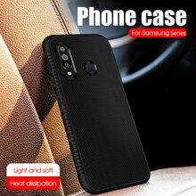 Soft Carbon Fiber Case For Samsung A70 A50 A40 A30 A20 A10 S8 S9 S10E Plus Heat Dissipation Cover Galaxy J4 J6 A6 A7 A8 A9