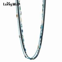 Longway chất lượng hàng đầu rhinestone hạt necklaces đối với nữ hợp thời trang new phong cách dân tộc đá tự nhiên vòng cổ trang sức bijoux sne160252