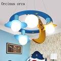 Креативная люстра в виде бабочки из мультфильма для детской комнаты  для мальчиков и девочек  для спальни  современный защитный светодиодны...