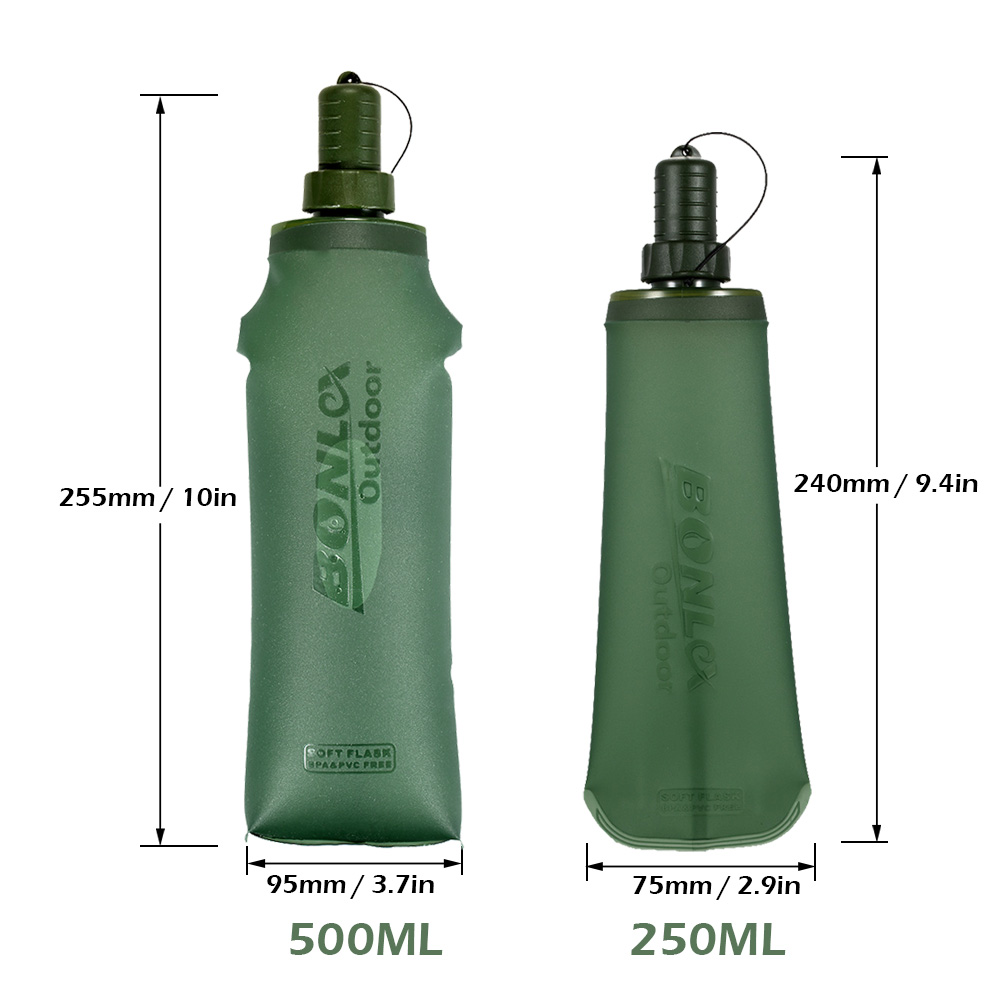 250ml 500ml Tpu Outdoor Sport Bottle Hydro Soft Flask Collapsible Aonijie Sd09 Drink Water For Running Camping Hiking Bicycle Fitness In Bags From Sports