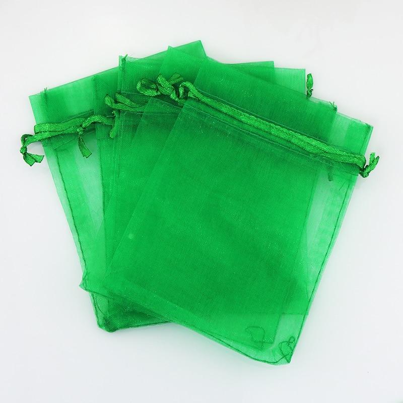 8ae37206d9b8e Darmowa Wysyłka 200 sztuk Dark Green Organza Torby 13x18 cm Biżuteria  Opakowania Torba Uroczy Ślub Sznurek Torba Prezent Favor Organza Woreczki