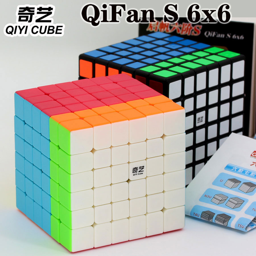 Magic Cube Puzzl QiYi(XMD) QiFan S 6x6x6 6x6 Professional Speed Cube Educational Twist Wisdom Toys Champion Competition Cube Z