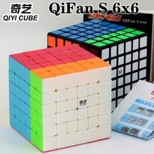 קסם קוביית פאזל QiYi(XMD) qiFan S 6x6x6 6x6 מקצועי מהירות קוביית חינוכיים טוויסט צעצועי אלוף תחרות פאזל קובייה