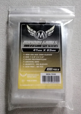 5 упаковок/партия Mayday игры для 41*63 мм карта протектор 100 рукав Упаковка Чехол Держатель карточки для настольных игр рукав 7039