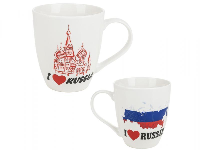 Mug ENS, I love Russia, 550 ml цены онлайн