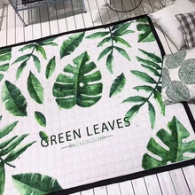 green leaves Print mat for living room kids play mat tropical style carpet 145*195cm multifunctional antislip rug outdoor/home