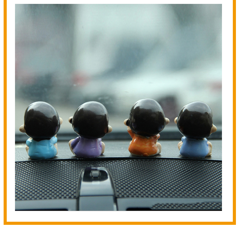 4pcsLot Car Ornament Resin LOVE Doll Furnishings Automobiles Interior Decoration Figurine Cute Auto Trim Accessories Gifts (6)