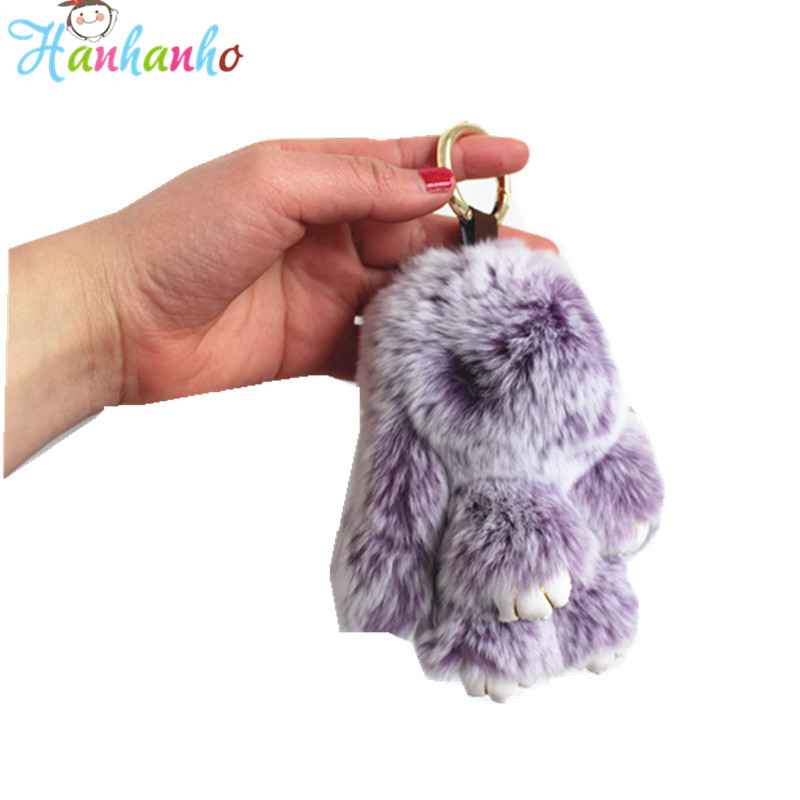 147c0e8a3 Top Quality 14cm Fluffy Bunny Keychain Plush Toy Fur Rex Rabbit Toy Bag  Pendant Gift For Girl-in Stuffed   Plush Animals from Toys   Hobbies on ...
