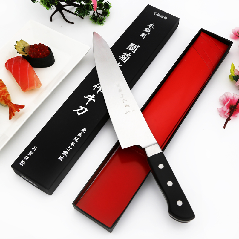 Free Shipping YILang stainless steel kitchen knife salmon sashimi raw fish fillet chef knife cooking knives