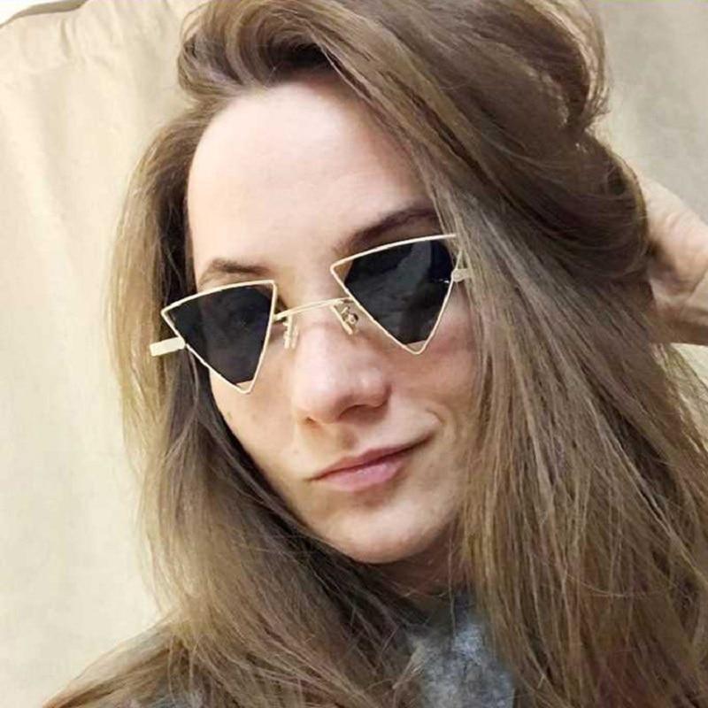 c0fb0d26b Luxo óculos de Sol Olho De Gato Do Vintage 2019 Do Punk Mulheres Homens  Marca Designer