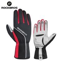 ROCKBROS Unisex Winter Cycling Gloves Sponge Padded Thermal Full Finger Bike Gloves Windproof Men S Outdoor