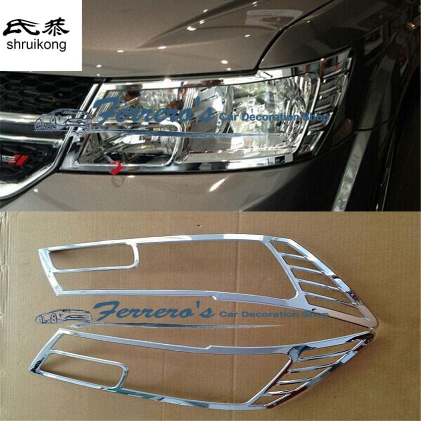 Livraison gratuite autocollants de voiture car styling pour Dodge JCUV Phares moulage paillettes ABS de haute qualité