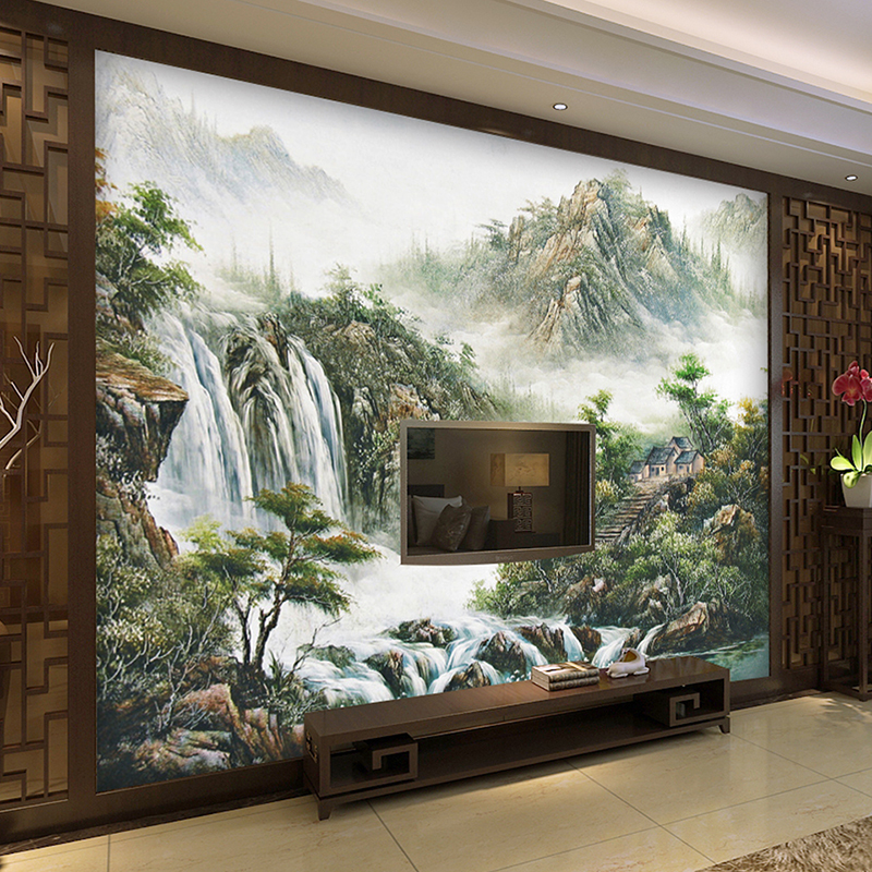Custom wall Mural Wallpaper Chinese Style Landscape Printed Living Room Sofa TV Background home decor WallMurals Wallpaper custom 3d stereoscopic large mural wallpaper wall paper living room tv backdrop of chinese landscape painting style classic