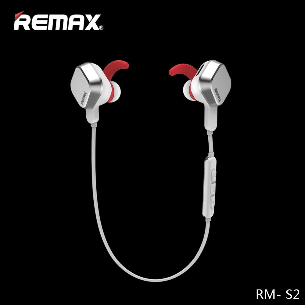 Remax S2 bluetooth 4.1 Esportes fone de ouvido Estéreo Bluetooth fone de ouvido com Microfone fone de ouvido sem fio Base-Driven para o Telefone móvel iphone para Xiaomi
