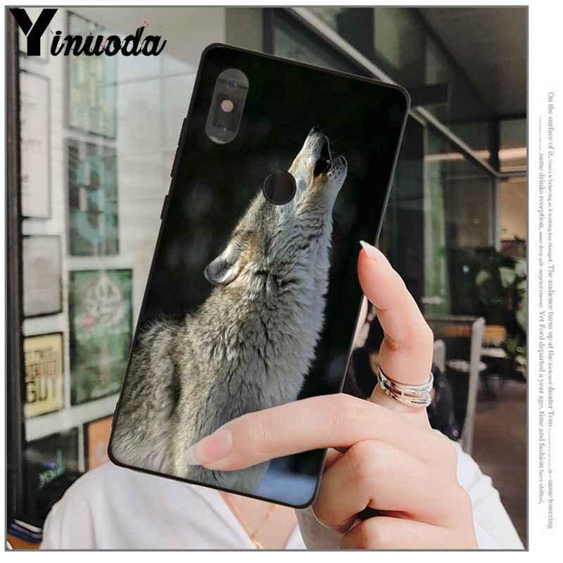 Yinuoda 怒っスノーウルフ TPU ソフトシリコン電話ケースカバー赤 mi 5 プラス注 5 注 4 4X シャオ mi mi 6 8 8SE 携帯カバー