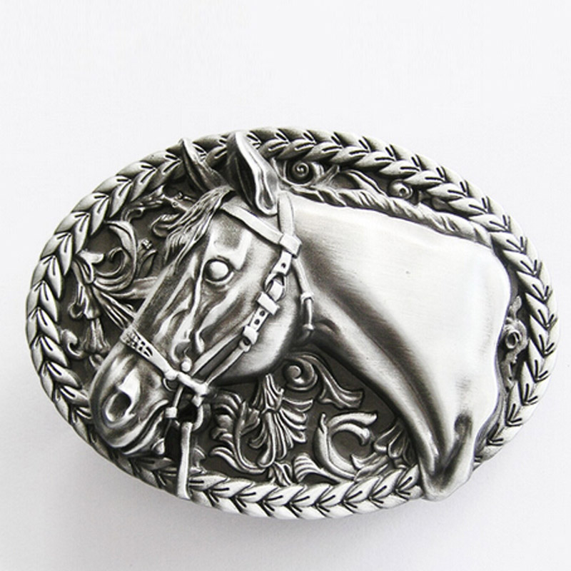 T-Disom Retail Mens' Belt Buckle Fashion Horse Belt Buckle For Mens In Good Plating Suitable For 4cm Width Belt Drop Shipping