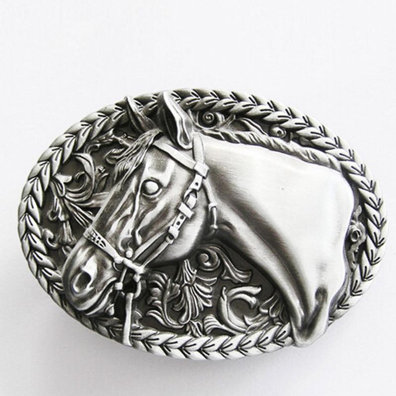 Heavy Gunmetal Native American Navajo Indian Chief Head Leather Belt Buckle