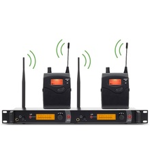 YUEPU RU 2050 wi-fi in ear monitor system Mic Monitoring Mic Twin Transmitter Earphone 2 Channel For Singer Stage Efficiency