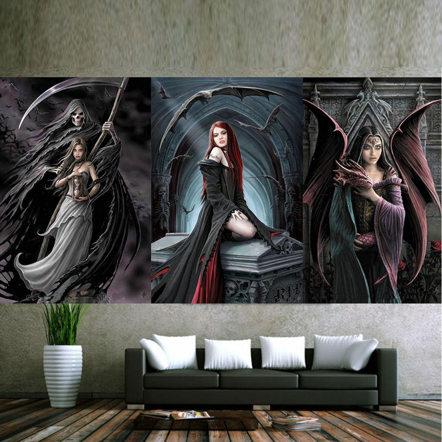 3 pcs set DIY diamond embroidery Dragon Girl 5D Diamond painting Cross Stitch full square Rhinestone