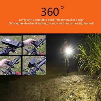 ไฟฉายสำหรับจักรยาน USB ชาร์จ XM L2 จักรยานขี่ lanterna ไฟฉายกันน้ำโคมไฟขี่จักรยานตกปลา