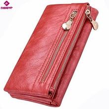 DOLOVE, дизайн, Женский кошелек, длинный, высокое качество, женский клатч, на молнии, кошельки, большая емкость, кошелек, сумка для мобильного телефона, карман