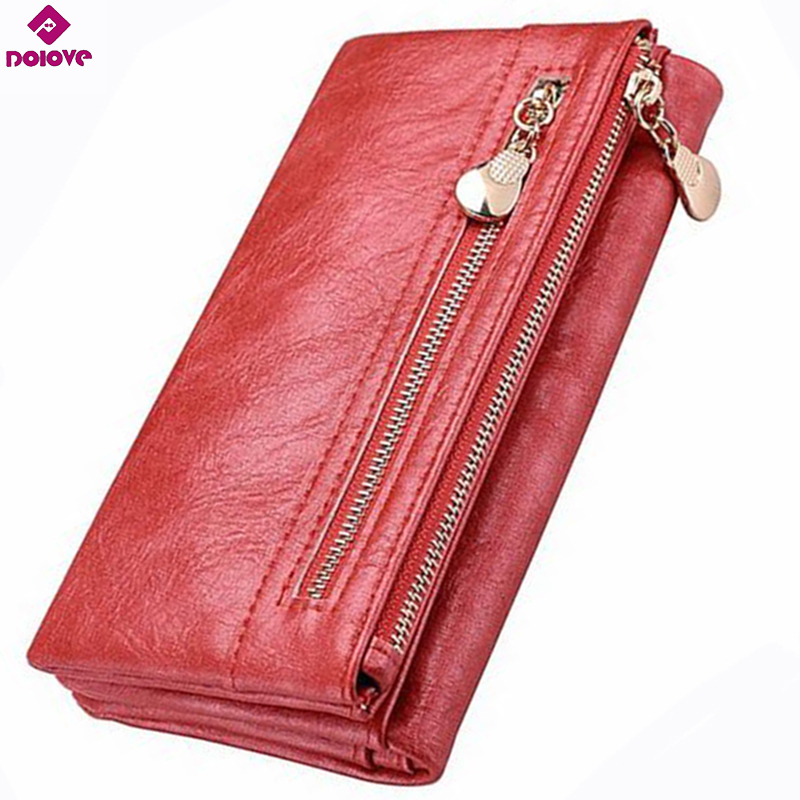DOLOVE Women Wallet Purse Cell-Phone-Bag Clutch-Zipper Female Big-Capacity Long High-Quality title=
