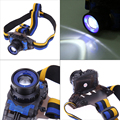 Portable XPE Q5 LED Zoomable Headlamp Headlight With Battery Charger Head Lamp Reachargable For Outdoor Activitity LED Headlight