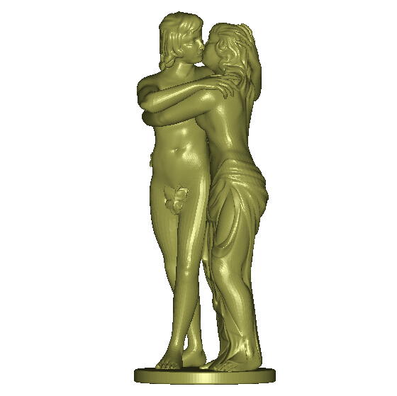3d Model Relief For Cnc In STL File Format Women And Man Hugging