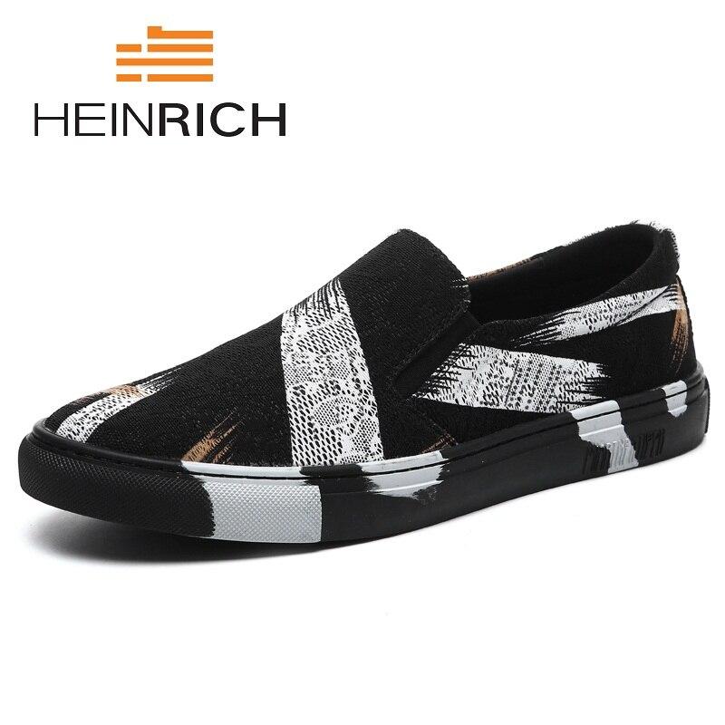 HEINRICH marque nouvelle toile hommes chaussures confortables et respirantes baskets hommes mode chaussures plates mâle Durable décontracté homme chaussures