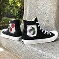 Вэнь Дизайн Холст Аниме обувь атака на Титанов Военный полицейский полк логотип дислоцированный корпус мужские и женские кроссовки скейтб...