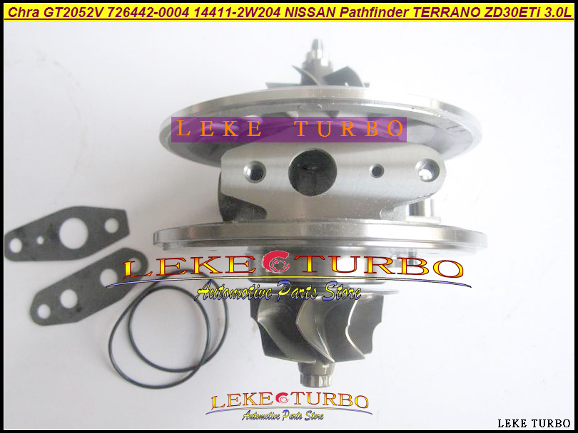 Free Ship Turbo Cartridge Chra GT2052V 726442-0004 726442 0001 726442-5004S 14411-2W204 For NISSAN Pathfinder TERRANO ZD30ETi