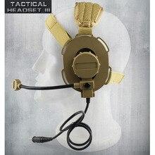 Тактическая гарнитура III Z Тактический Боуман Elite II CS наушников применение с PTT для двухканальные рации шлем связь CS