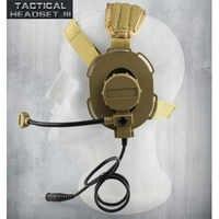 Tactical Headset III Z Taktische Bowman Elite II CS Kopfhörer Verwenden mit PTT für Walkie Talkie Helm Kommunikation CS