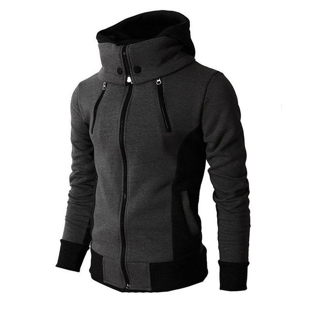 FeiTong Winter Jacket Men coats 2018 Casual Long Sleeve Hooded Cardigan Jacket Top Blouse Windbreaker Fashion Male
