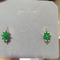 2017 Brincos QI xuan_fashion jewelry_colombia Зеленый Камень Элегантный earrings_rose золото Цвет earrings_factory непосредственно продаж