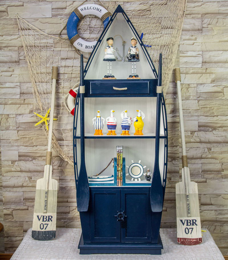 Gentil Mediterranean Bookcase Wooden Boat Storage Cabinets Lockers Creative Ideas  Vertical Cabinet Furniture In Bookcases From Furniture On Aliexpress.com ...