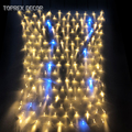 1 5*1 5 м теплый белый с крутым белым мигающим светодиодным сетевым светом наружные Рождественские елочные огни сказочные огни гирлянда украш...
