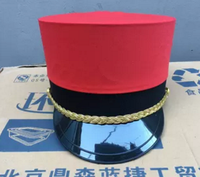 red performance hat for Adults wedding reception hat english bowler hat red military hat army cosplay cap