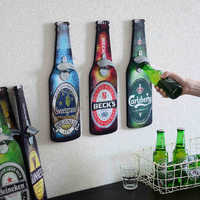 Retro Beer Shapes Wall Bottle Openers Bar Restaurant Wall Decor Wall Wooden Plaques Cap Catcher Ornaments