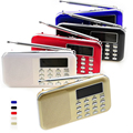 Portable TF Card FM Radio with Display Screen Support Mini Speaker