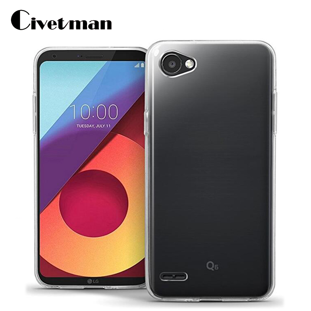 "Cover Mobile phone bag Case For LG Q6 Q 6 Alpha Q6 Plus Q6a M700 5.5"" soft Ultra-thin Clear TPU Silicone Transparent Back Shell"