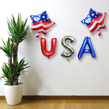 лучшая цена Aluminum balloon Independence Day Party decoration balloons Independence Day Happy Party Holiday Atmosphere L527