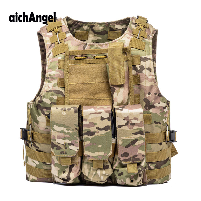 US Soldier Military Uniform Camouflage Vests Paintball Airsoft Nylon Vest Molle Army Combat Tactical Vest-in Military from Novelty & Special Use    1