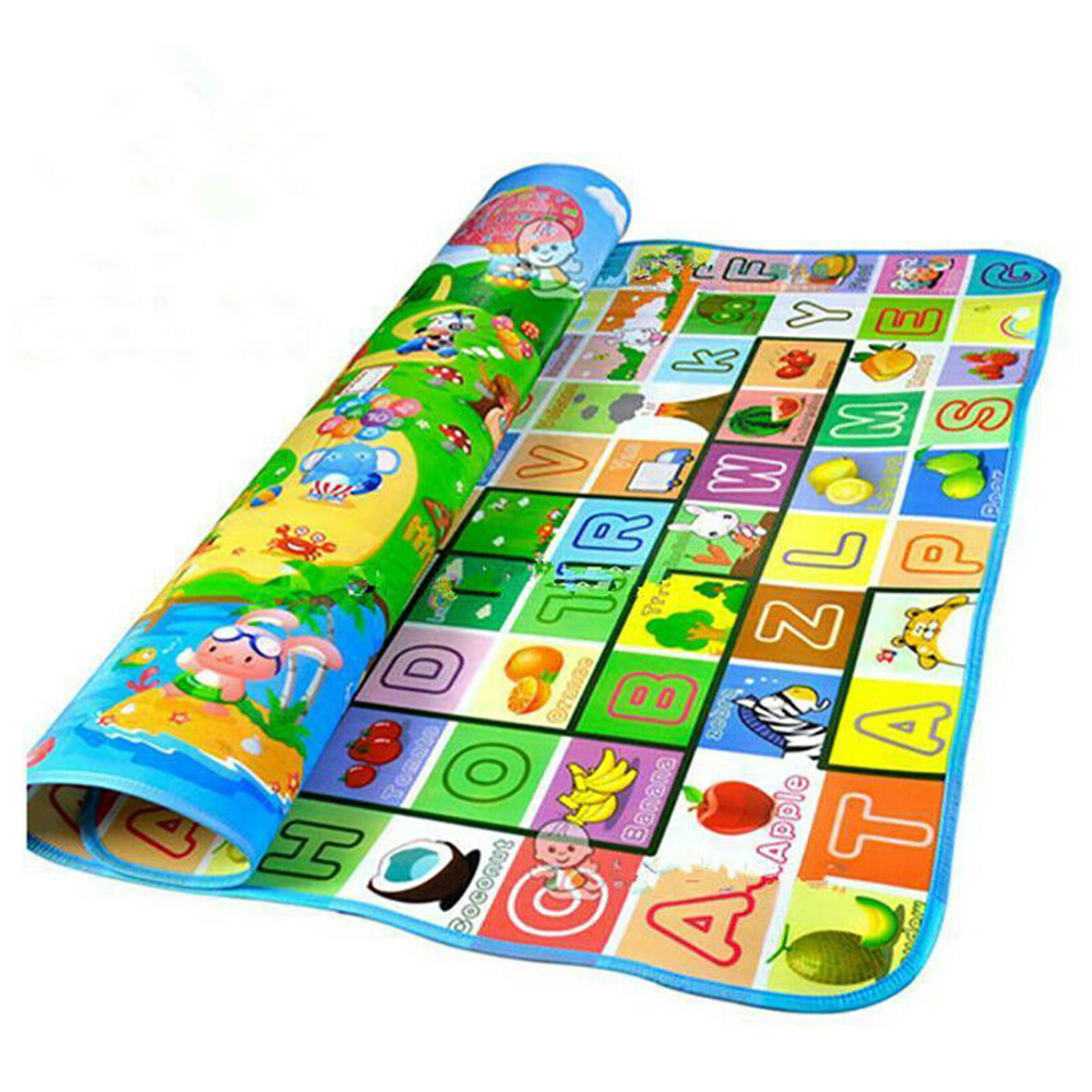 HTB1zIVAeaSs3KVjSZPiq6AsiVXaM Waterproof Floor Kids Developing Play Mat Rug Child Infant Baby Kid Crawling Game Mat Two-Side Play Puzzles Baby Carpets Toys