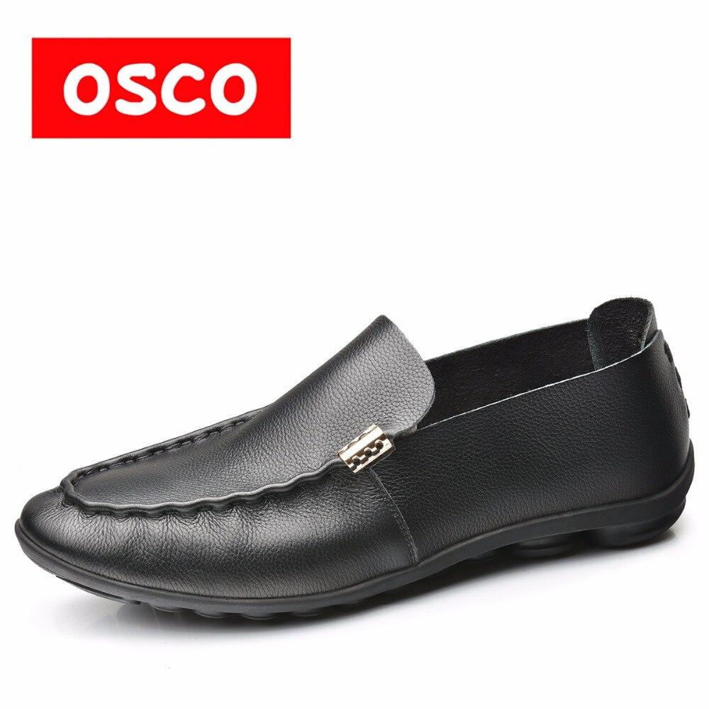 OSCO tehase otsene ALL SEASON uus mehed lehm nahast kingad moe meeste slip kohta vabaaja loafers ja juht kingad # RUA3520