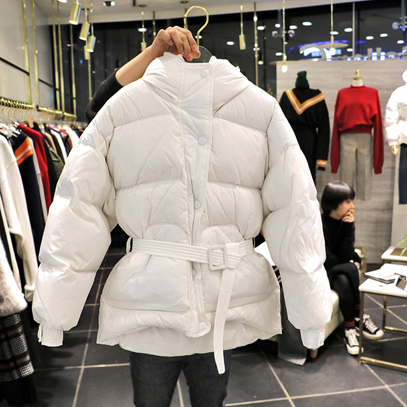 White Duck   Down     Coat   Women Winter 2019 New spring Casual Solid Plus Size White Black Red Female Short   Down   Jackets Parkas LU638